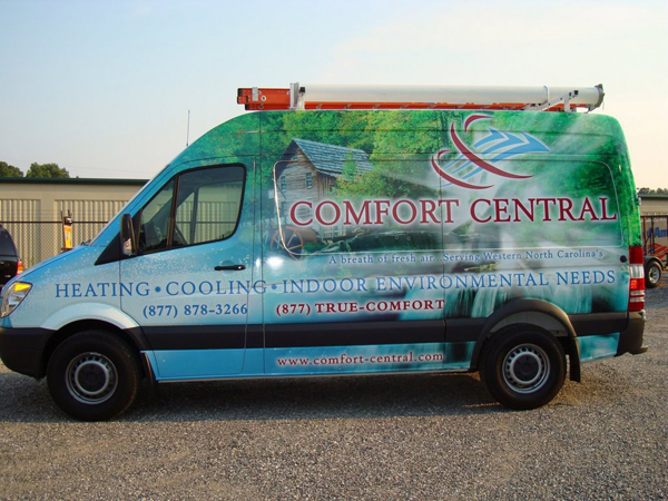 Sprinter wraps for Comfort Central in North Carolina