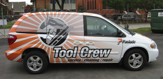Van wraps for Paslode Tool Crew in Dallas, TX