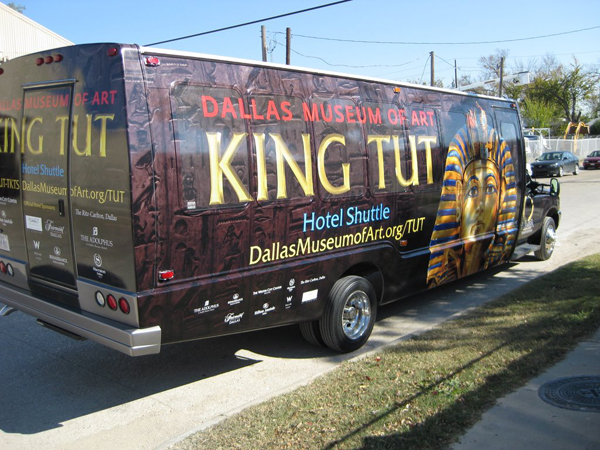 Shuttle bus wrap for the Dallas Museum Of Art in Dallas, TX