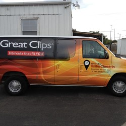 Great Clips Van Wrap in DFW