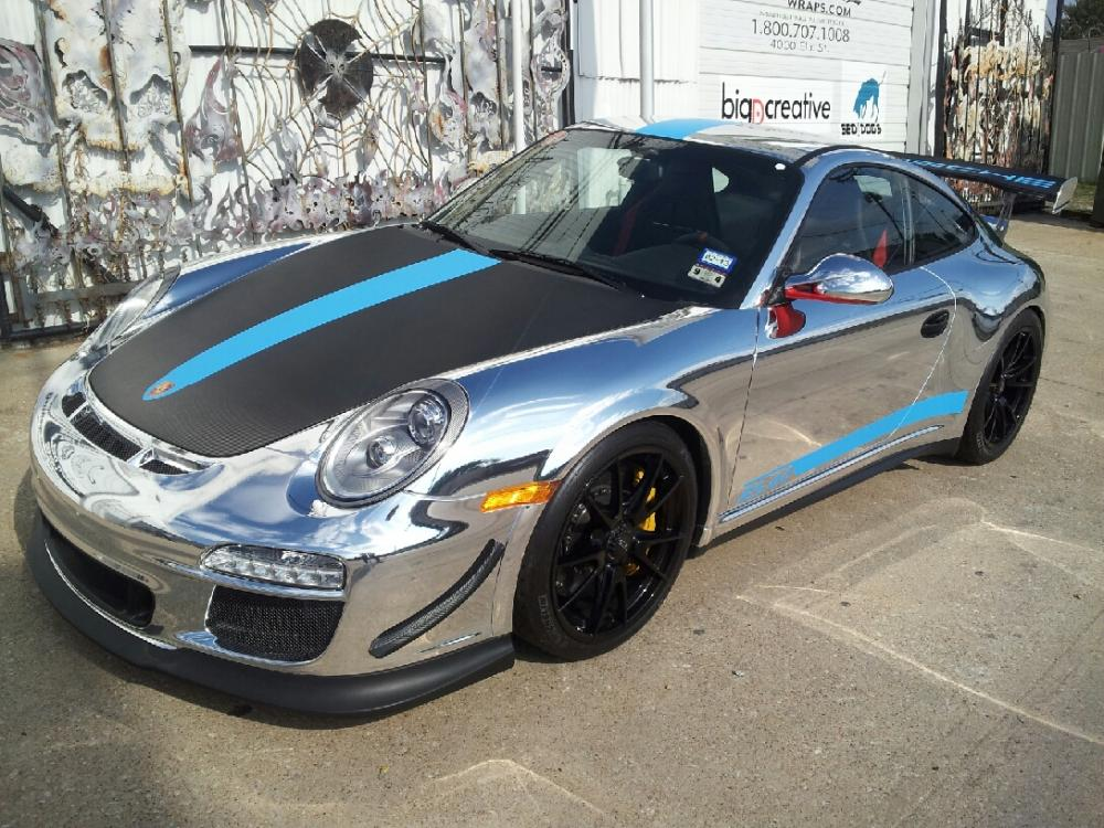 Chrome Vehicle Wrap On Beautiful Porsche Gt3 Rs 4 0 In