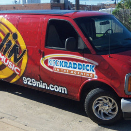 Wrapped van for radio station