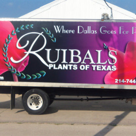 Mobile Box Truck Wrapping Advertising for Ruibals Plants