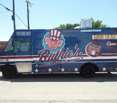 Ruthie's Food Truck in Dallas with Custom Car Wrapping