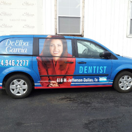 Wrapped van for dentist office