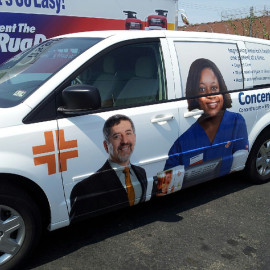 Concentra van wrap