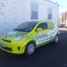 Car wrap for business advertising