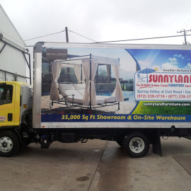 Mobile Box Truck Wrapping Advertising for Sunnyland Furniture