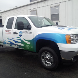 Natural gas company truck wrap