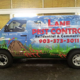 Commercial van mobile billboard for Pest Control Company