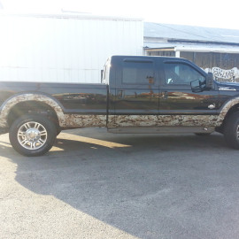 Black and Camo truck wraps