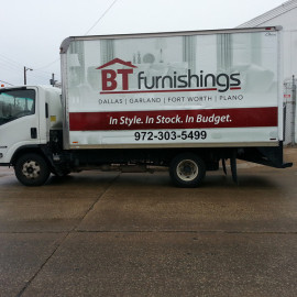 Mobile Box Truck Wrapping Advertising for BT Furnishings