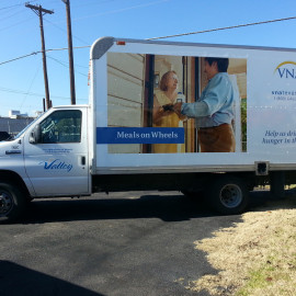 Mobile Box Truck Wrapping Advertising for VNA Meals