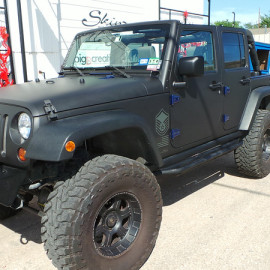 Black Matte Car Wrap Jeep Wrangler