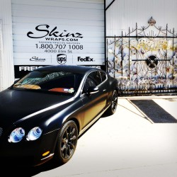 Bentley Continental GT Wrap in Black Satin