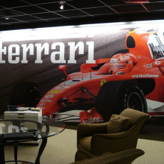 Boardroom Display Installed for Boardwalk Ferrari
