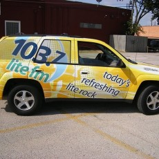 Car-Wraps-installed-on-a-Chevy-Trailblazer-for-CBS-Radio-station-103.7-lite-fm