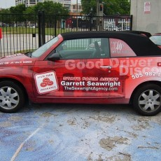 Car-Wraps-installed-on-a-fleet-of-PT-Cruiser-Convertibles-for-State-Farm-Agent-Garrett-Seawright