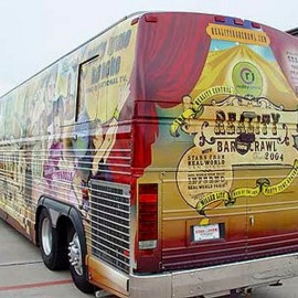Custom vehicle and bus wraps
