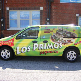 Custom van wrap for restaurant