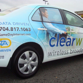 clearwire business car wrap