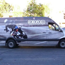 Zero Electric Motorcycles wrapped van
