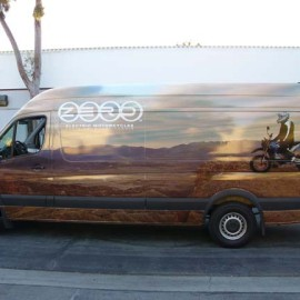 Sprinter wrap for Zero Electric Motorcycles in Los Angeles, CA