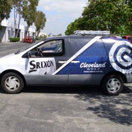 Mobile advertising on vans