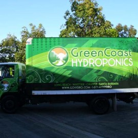 Box truck wrap for Green Coast Hydroponics in Los Angeles, CAwww.skinzwraps.com