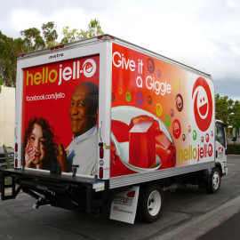 Mobile Truck Wrapping Advertising for Jell-o