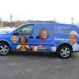 Concentra wrapped van