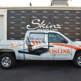 Henderson County Online News Truck Wrap by SkinzWraps