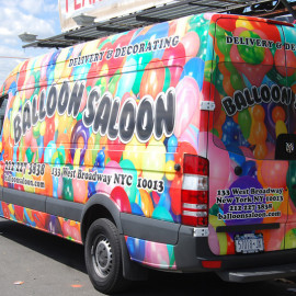 Balloon Salloon - NY advertising van