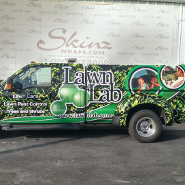 Lawn care vehicle wraps (Lawn Lab truck)