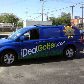 Custom van wrap for business
