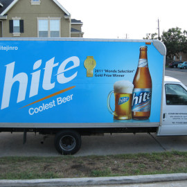 Mobile Box Truck Wrapping Advertising for Hite Beer