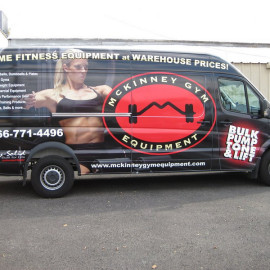 McKinney Gym Equipment van wrap