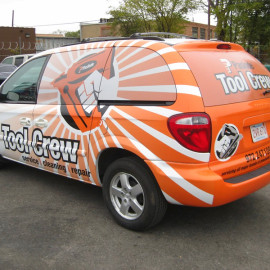 Custom business wrap for vans