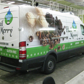 Wrapped van for food company Hail Merry