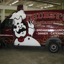 Wrapped van for restaurants