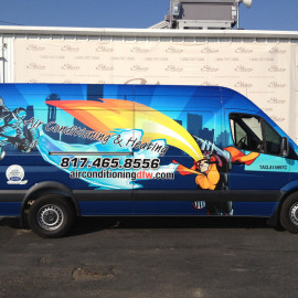 mobile billboards for air condition and heating company