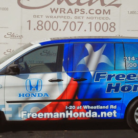 Van wrap for car dealership