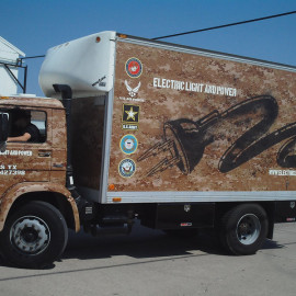 Mobile Box Truck Wrapping Advertising for Electric Light and Power