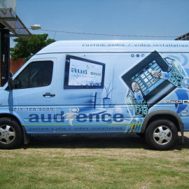 Audience - Company wrapped van