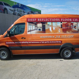 Van wrap for flooring company
