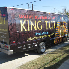 king tut bus wrap