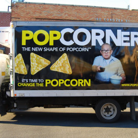 Mobile Truck Wrapping Advertising for PopCorners