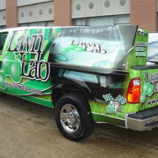 Truck-Wraps-installed-for-Lawn-Lab-in-Dallas-TX