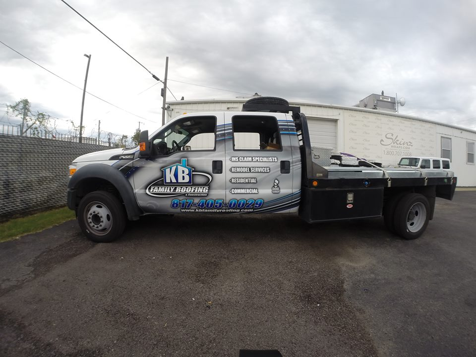 Roofing Vehicle Wrap : Vehicle wrap for kb roofing skinzwraps