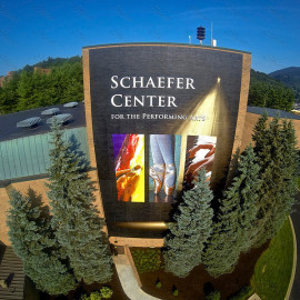 Schaefer Center extra large wall mural for outside building